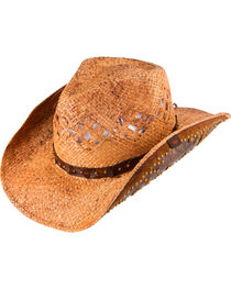 Peter Grimm Jarales Straw Cowboy Hat, , hi-res