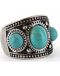 Shyanne Women's Turquoise Stone Wide Ring , , hi-res
