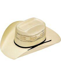 Twister Boys' Bangora Vented Straw Cowboy Hat, , hi-res