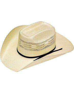 Twister Boys' Bangora Vented Straw Cowboy Hat, Cream, hi-res