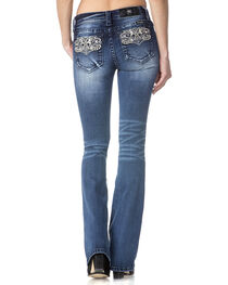 Miss Me Women's Indigo Perfect Paisley Jeans - Boot Cut , , hi-res