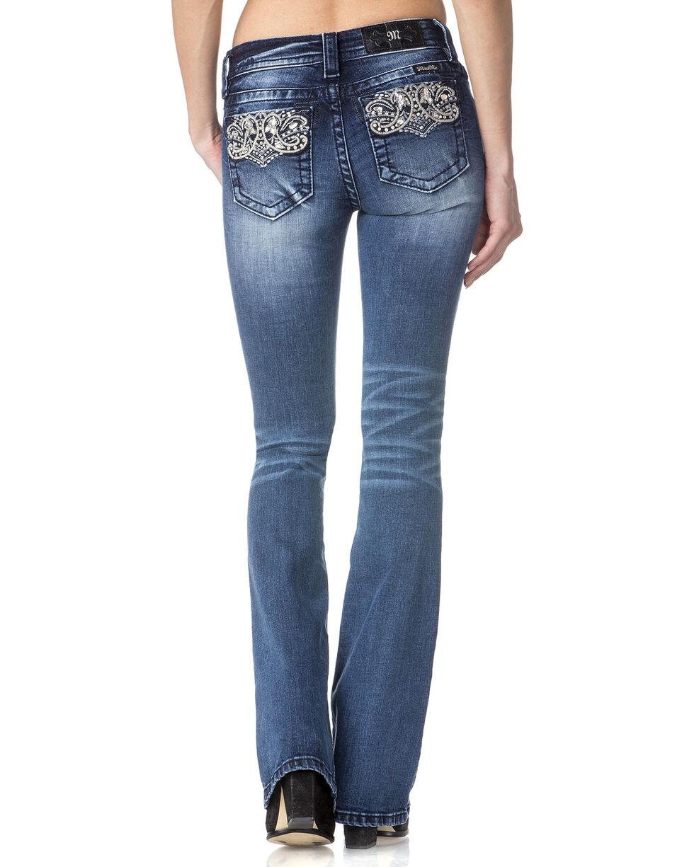Miss Me Women's Indigo Perfect Paisley Jeans - Boot Cut , , hi-res