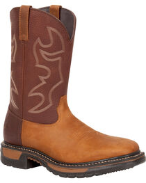 Rocky Men's Original Ride Steel Toe Western Boots, , hi-res