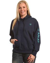 Ariat Women's Navy Tek Logo Hoodie , , hi-res