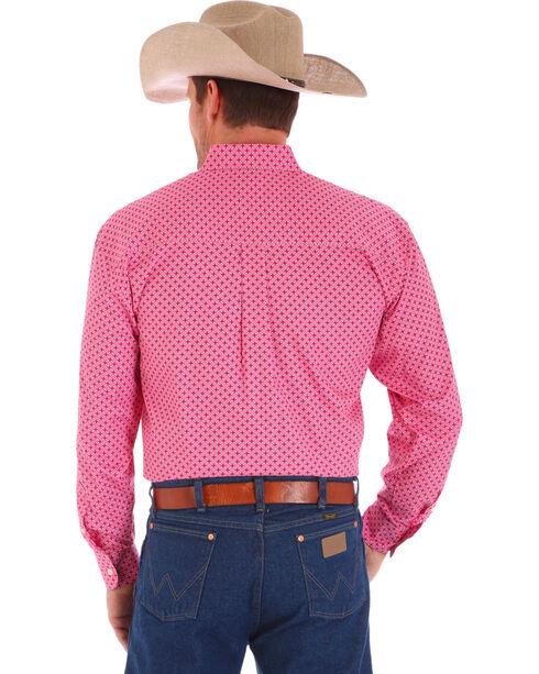 """Wrangler Men's """"Tough Enough To Wear Pink?"""" Long Sleeve Shirt, Pink, hi-res"""