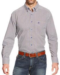 Ariat Men's Reyne Printed Long Sleeve Shirt, , hi-res