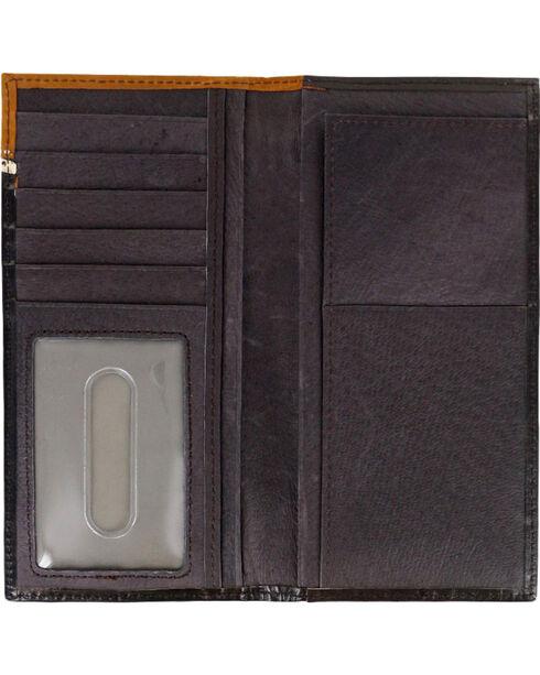 HOOey Men's Two Toned Tooled Wallet, Black, hi-res