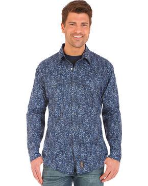 Wrangler Retro Floral Paisley Long Sleeve Shirt, Grey, hi-res