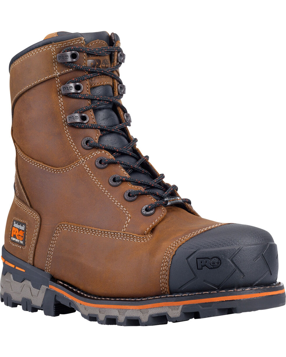 "Timberland Pro Men's 8"" Boondock WP Comp Toe Work Boots, Brown, hi-res"