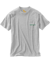 Carhartt Men's Grey Maddock Graphic Shamrock Branded 'C' Short-Sleeve T-Shirt, , hi-res
