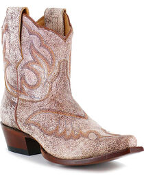Shyanne® Women's Crackled Embroidered Booties, , hi-res