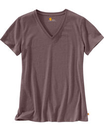 Carhartt Women's Lockhart Short Sleeve V-Neck T-Shirt, , hi-res