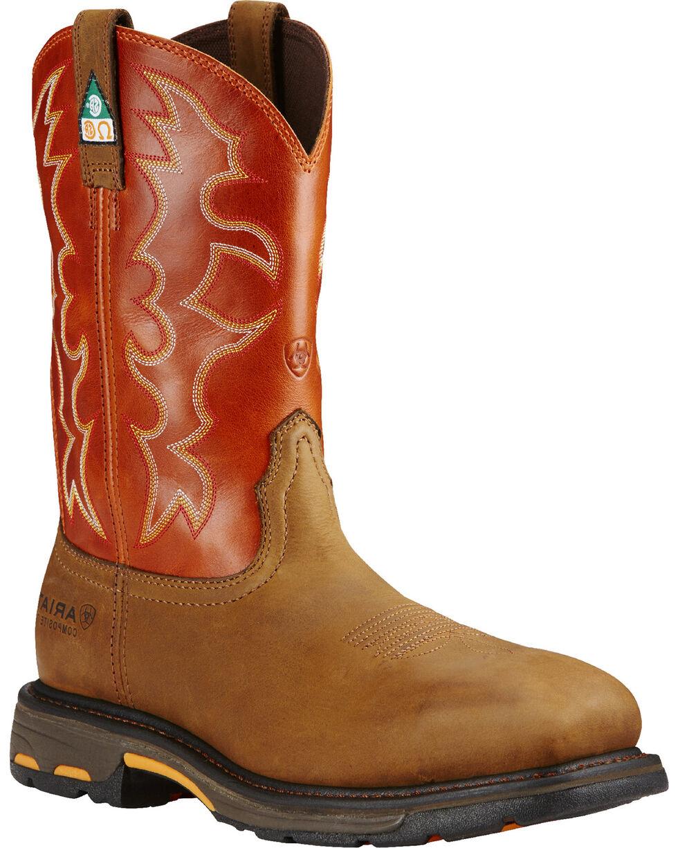 Ariat Men's WorkHog CSA Work Boots, Earth, hi-res
