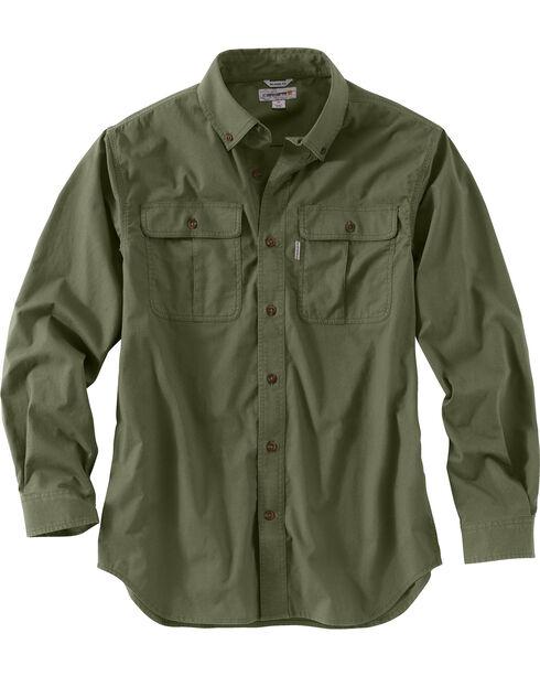 Carhartt Men's Foreman Long Sleeve Work Shirt, Moss, hi-res