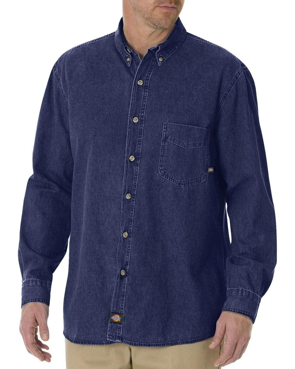 Dickies Denim Work Shirt - Big & Tall, Rinsed, hi-res