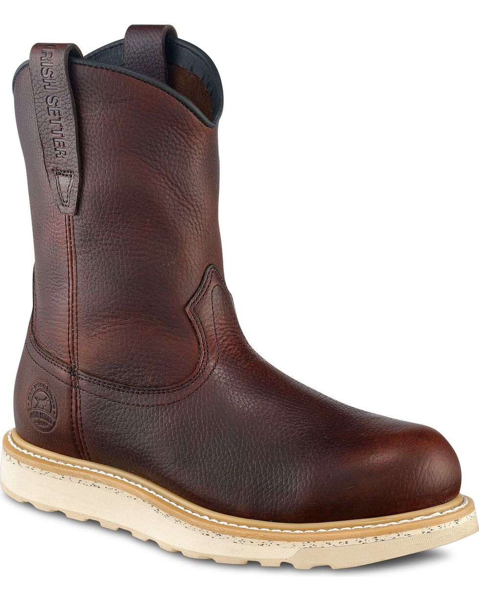 Irish Setter by Red Wing Shoes Men's Ashby Wedge Pull-On Work Boots - Round Toe, Brown, hi-res