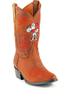 Gameday Boots Girls' University of Georgia Western Boots - Medium Toe, Honey, hi-res