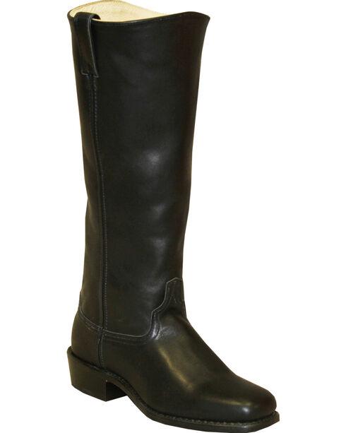 Abilene Men's Cowhide Shooter Boots - Square Toe, Black, hi-res
