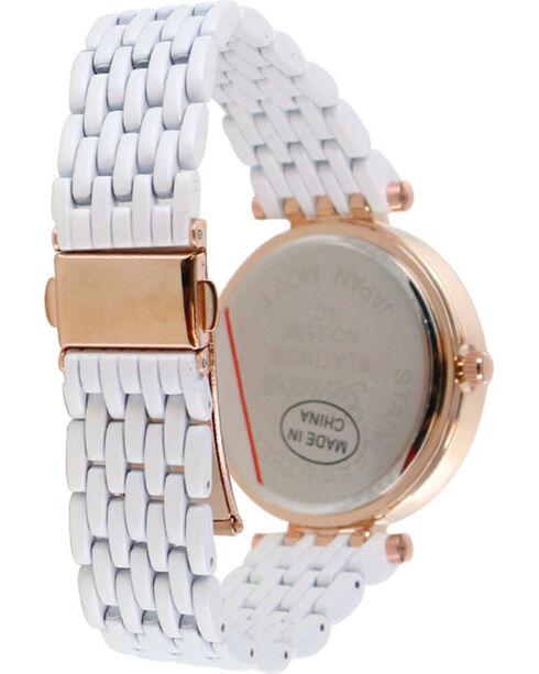 Shyanne® Women's Rhinestone Watch, White, hi-res