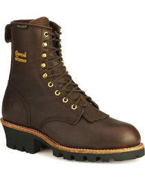 Chippewa Men's Insulated Waterproof Steel Toe Logger Work Boots, , hi-res
