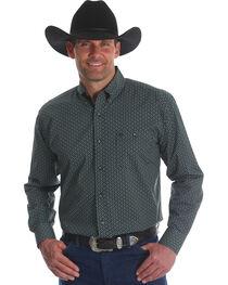 Wrangler Men's Classics Poplin Print Button Down Shirt, , hi-res