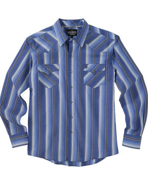 Garth Brooks Sevens by Cinch Stripe Western Shirt, Blue, hi-res