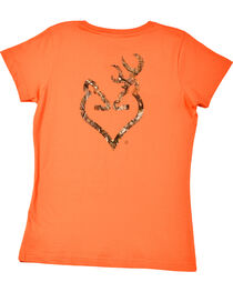 Browning Women's Camo Heart T-Shirt, , hi-res