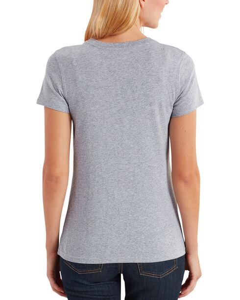 "Carhartt Women's Lubbock Short Sleeve American Branded ""C"" Graphic Tee, Grey, hi-res"