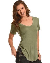 Derek Heart Women's Deep V-Neck Oversize Tee - Plus Size, , hi-res