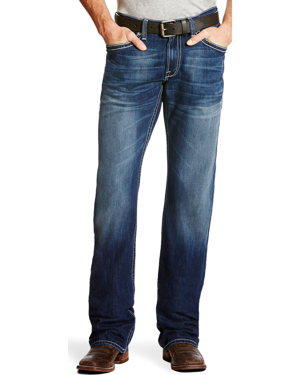 Ariat Men's M4 Freeze Point Porter Low Rise Jeans - Boot Cut, Indigo, hi-res