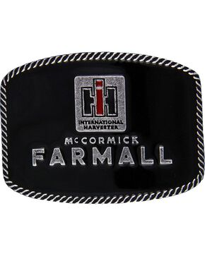 Case IH McCormick Farmall Attitude Belt Buckle, Silver, hi-res