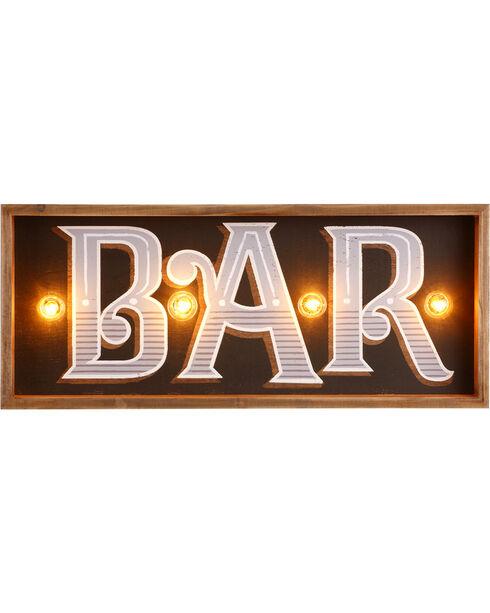 Demdaco Lit Bar Wall Art , Brown, hi-res