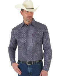 Wrangler George Strait Poplin Print Snap Shirt, , hi-res