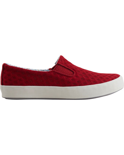 Eastland Women's Red Breezy Slip-On Sneakers, Red, hi-res