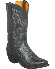 Lucchese Men's Franklin Hornback Caiman Tail Western Boots - Snip Toe, , hi-res