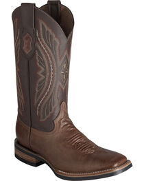 Ferrini Distressed Kangaroo Cowgirl Boots - Wide Square Toe, , hi-res