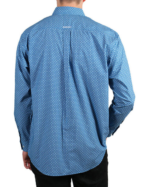 Ariat Men's Fraiser Long Sleeve Button Down Shirt - Tall, Blue, hi-res