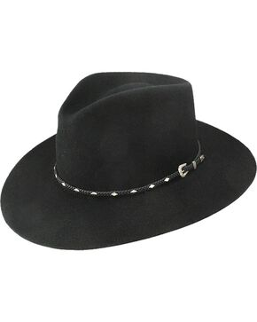 Stetson Diamond Jim 4X Fur Felt Hat, Black, hi-res