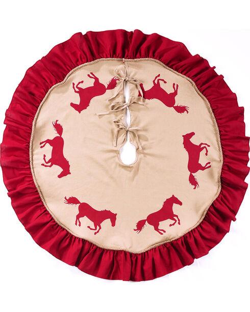 BB Ranch Burlap Tree Skirt, Red, hi-res