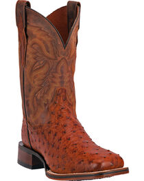 Dan Post Men's Ostrich Cowboy Certified Western Boots, Cognac, hi-res