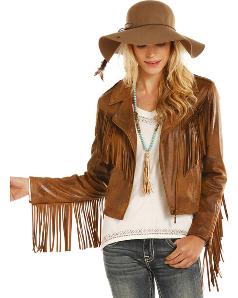 Powder River Outfitters Women's Faux Suede Moto Jacket, , hi-res