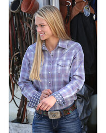 Cinch Women's Plaid Western Snap Shirt , Multi, hi-res