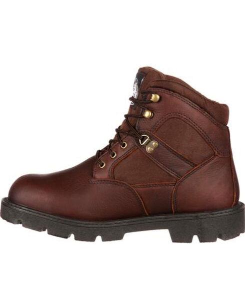 Georgia Men's Homeland Steel Toe Waterproof Work Boots, Brown, hi-res