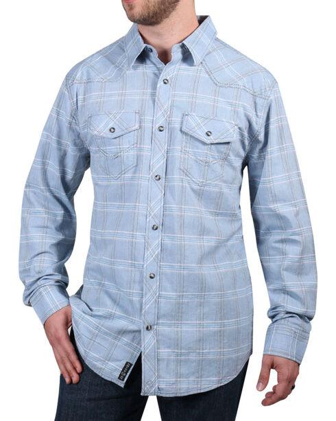 Moonshine Spirit® Men's El Cortez Plaid Long Sleeve Shirt, Light/pastel Blue, hi-res