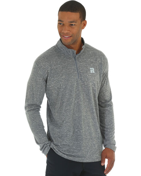 Wrangler Men's Olive Riggs Workwear 1/4 Zip Pullover - Big & Tall , Heather Grey, hi-res