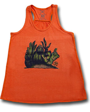 Hooey Women's Cacti Tank Top , Orange, hi-res