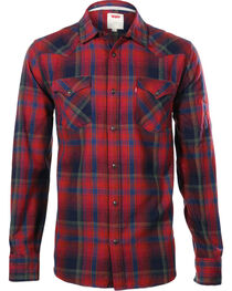 Levi's Men's Long Sleeve Flannel Plaid Shirt, , hi-res