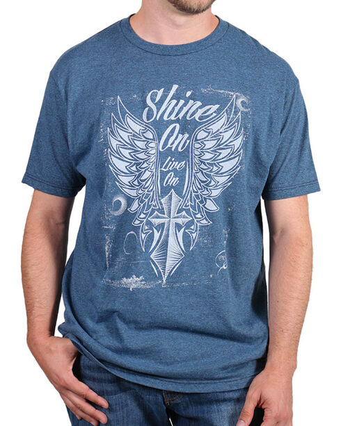 Moonshine Spirit® Men's Shine On Tee, Indigo, hi-res
