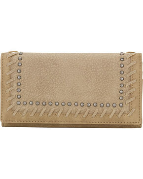 Bandana by American West Women's Guns and Roses Wallet, Sand, hi-res