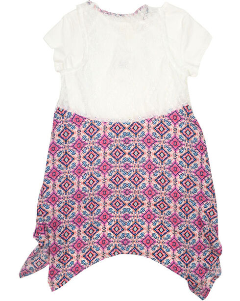 Self Esteem Girls' Top and Pattern Vest with Necklace , Ivory, hi-res